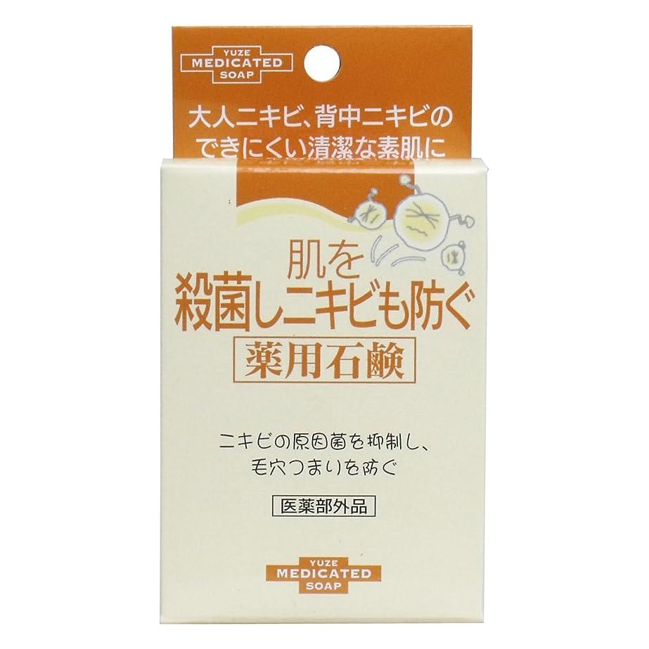 有限幸運クレジットユゼ 肌を殺菌しニキビも防ぐ薬用石鹸 (110g)