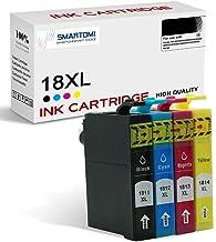 SMARTOMI 18XL 18 compatibles con Epson 18 XL Cartucho de Tinta, para Epson Printer XP-30 102 202 205 212 215 225 305 312 315 322 402 405 412 415 422 Series(4 Cartuchos)