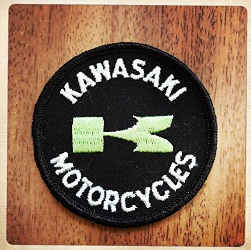 MAREL Patch Kawasaki Motocycle Vintage Aufnäher Bügelbild Aufbügler Stickerei 8 Replik