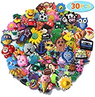 ★30 random shoe charms for clog shoes and bracelets ★Randomly pick from many different styles, all of them are very cute. ★Function: decorate your shoes to make them more beautiful. ★Easy to Use - To install the shoe charm, please hold it and insert ...