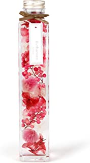 [フェリナス] ハーバリウム 角瓶(1本) ピンク 女性 ギフト 贈り物 誕生日 記念日 敬老の日 kaku-pink