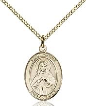 14KT Gold Filled Catholic Patron Saint Medal Pendant, 3/4 Inch