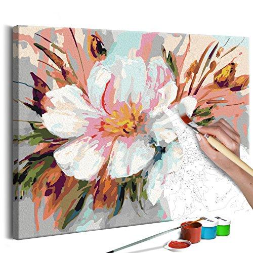 murando - Malen nach Zahlen Blumen 50x40 cm Malset mit Holzrahmen auf Leinwand für Erwachsene Kinder Gemälde Handgemalt Kit DIY Geschenk Dekoration n-A-0252-d-a