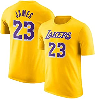 NBA Men's T-Shirt -LeBron James KingJames #23 L.A.Lakers Basketball game Uniform shirts Fans Retro Breathable top Jerseys suit
