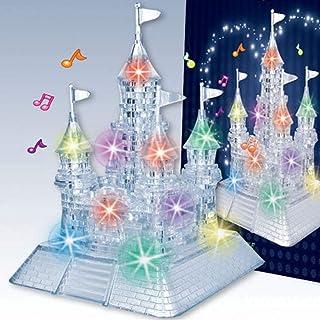 discountstore145-105Pcs 3D Castle Building Blocks Toy Music Light Educational Puzzles Jigsaws