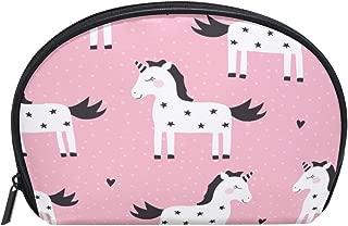 ALAZA Star Unicorn Half Moon Cosmetic Makeup Toiletry Bag Pouch Travel Handy Purse Organizer Bag for Women Girls