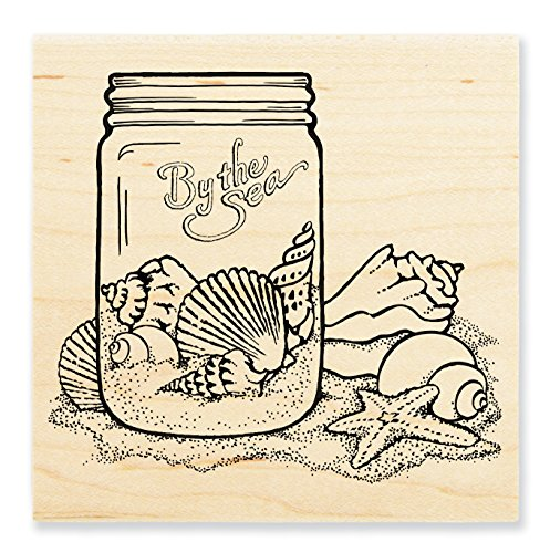 Stampendous Wood Stamp, Seashell Jar