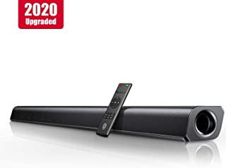 Sound Bar, Bomaker 37-inch Home Theater TV Soundbar Wired & Wireless Bluetooth 5.0 Speaker, TV Remote Compatibility, HDMI ARC/Optical/RCA/Aux/USB Connection, 4 Equalizer Modes