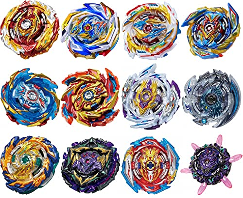GiGimelon Gyros 12 Pieces Pack, Bey Battling Top Battle Burst High Performance Set with Stickers, Birthday Party School Gift Idea Toys for Boys Kids Children Age 6+