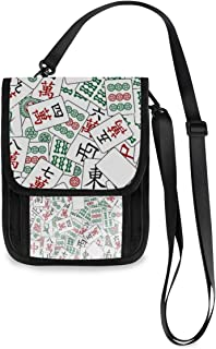 Neck Wallet Chinese Mahjong Game Travel Pouch & Passport Holder for Adults