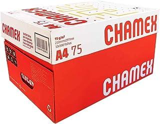 Papel Sulfite A4 75g, Chamex, Caixa com 10 Pacotes x 500 Folhas cada