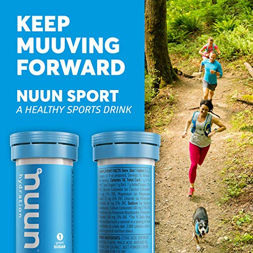 Nuun Hydration: Electrolyte Drink Tablets for Exercise & More. Juicebox Mix, Box of 4 Tubes (40 Servings). 1g Sugar, Low Calorie (10), Gluten Free, Vegan. Potassium, Magnesium, Sodium & Calcium