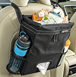 High Road Puff'nStuff Car Trash Bag Organizer and Tissue Holder (Black)