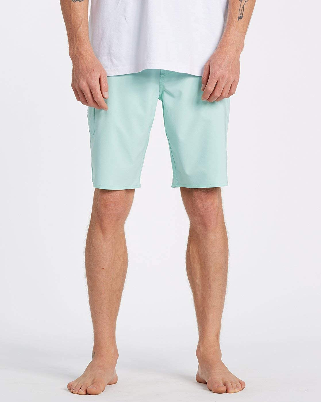 Billabong Mens All Day Pro Boardshorts Board Sailing Boating Watersports Shorts - Aqua Heather - Easy Stretch Quick Dry