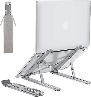 OMOTON Laptop Stand, Adjustable Aluminum Laptop Tablet Stand, Foldable Portable Desktop Holder Compatible with All Laptops...