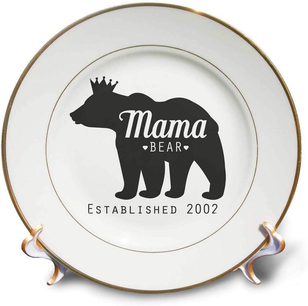 3dRose Mama Bear New color Established Porcelain Plate 2002 8