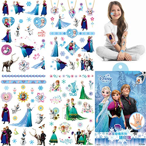 Frozen Temporary Tattoo for kids - WENTS 8 Sheets 200+ Pcs Fake Waterproof Temporary Tattoo Frozen Sticker for Boy Girl Teens Birthday Party Bags Fillers Favors Supplies Gifts Goodies Decoration