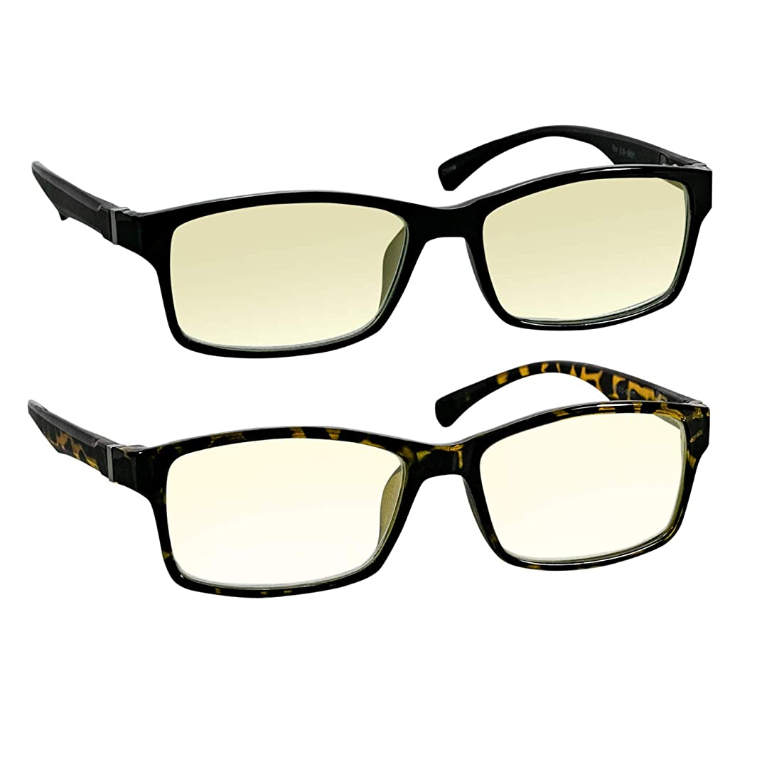 Computer Reading Glasses 0.00 Black Tortoise Protect Your Eyes Against Eye Strain, Fatigue and Dry Eyes from Digital Gear with Anti Blue Light, Anti UV, Anti Glare, and are Anti Reflective