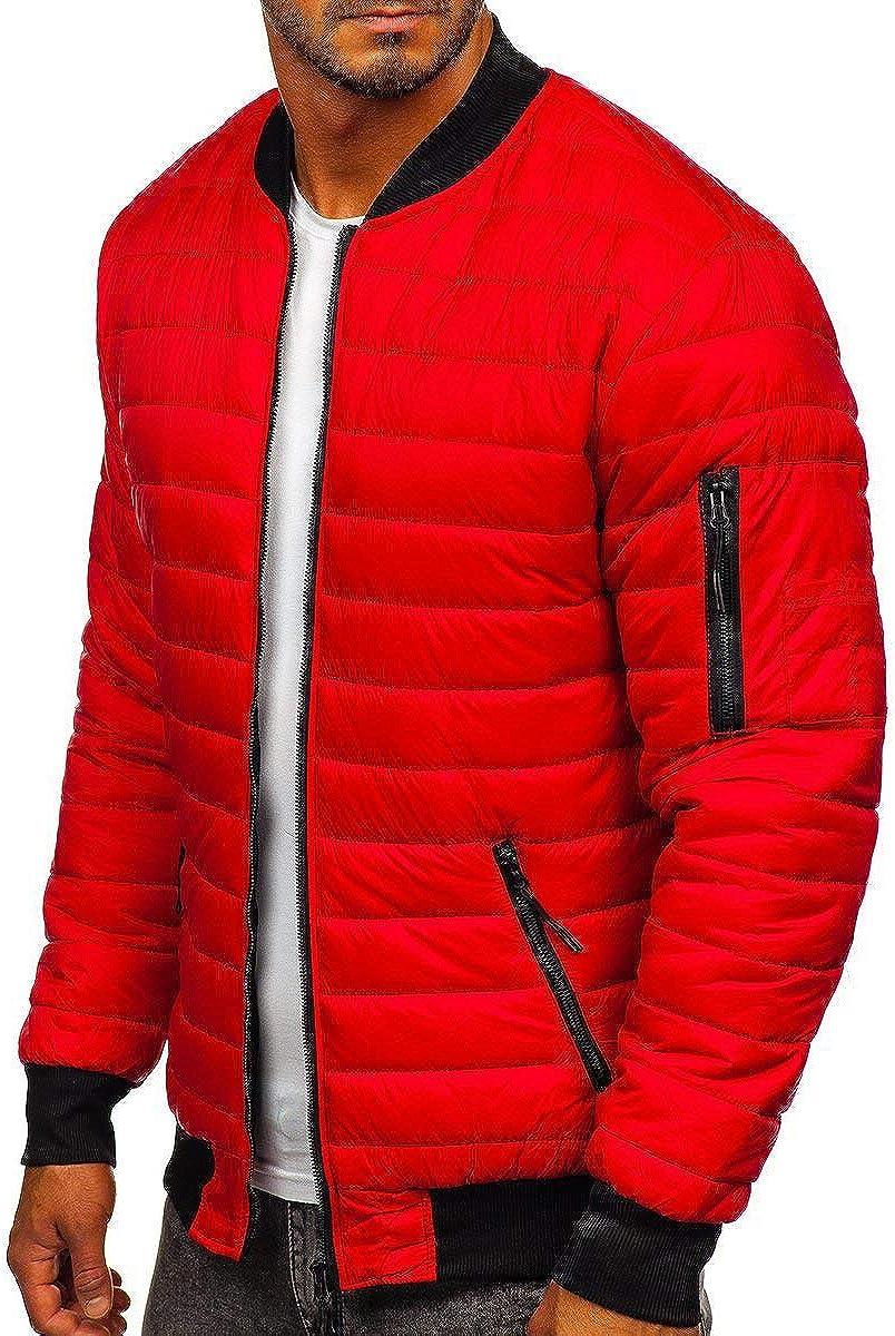 YFFUSHI Men's Padded Jacket Winter Thicken Warm Zipper Puffer Coat Quilted Coat