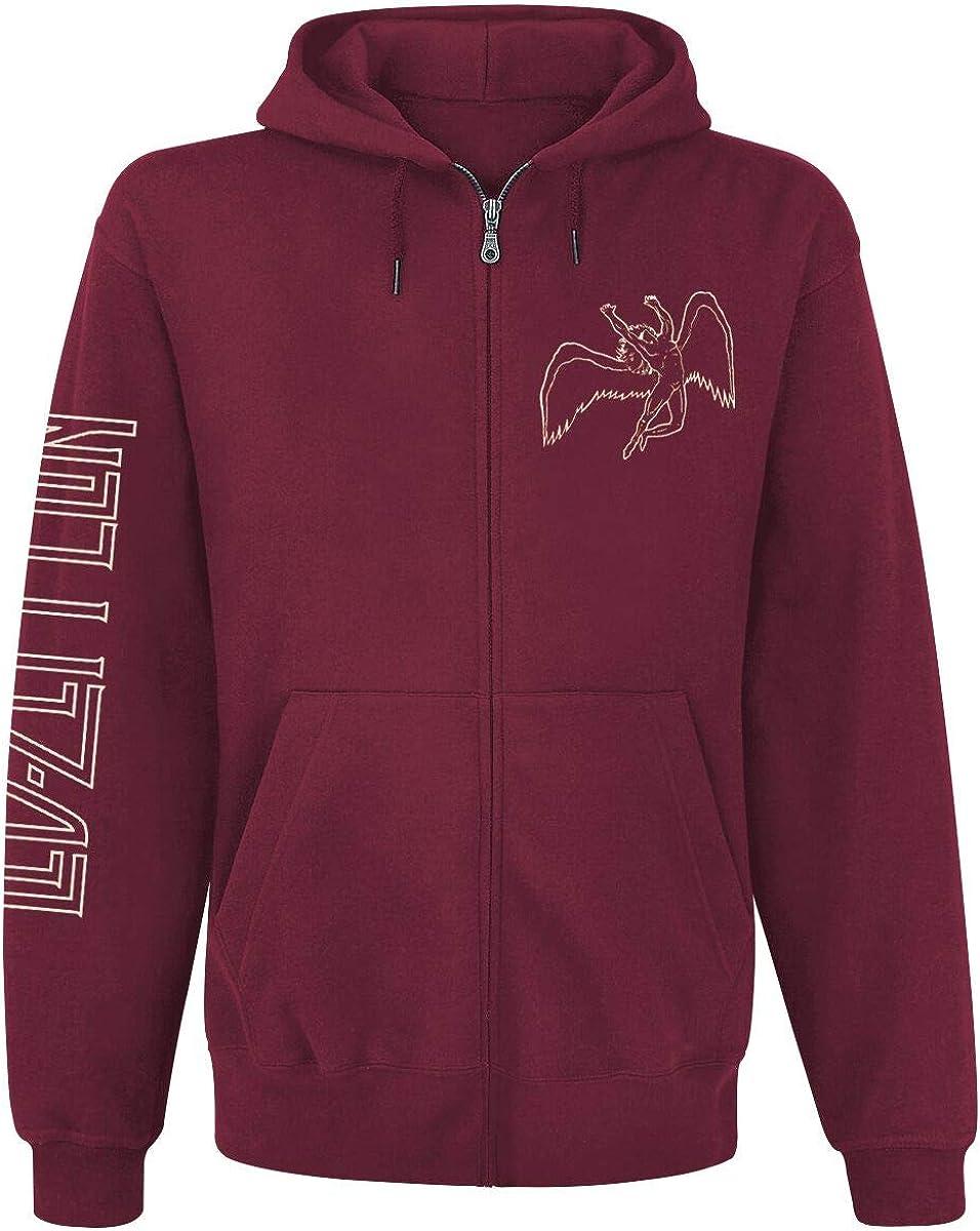Led wholesale Zeppelin 'Symbols' Maroon Up Hoodie Max 75% OFF Zip