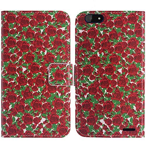 TienJueShi Rose Blume Flip Book Stand Brieftasche Leder Tasche Schütz Hülle Handy Handy Hülle Für Archos Core 57S 5.72 inch Abdeckung Fall Wallet Cover Etüi