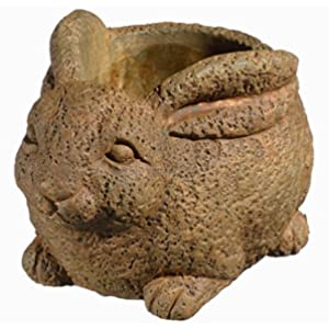 Classic Home and Garden 9/3441R/1 Rabbit Planter, Small, Rust