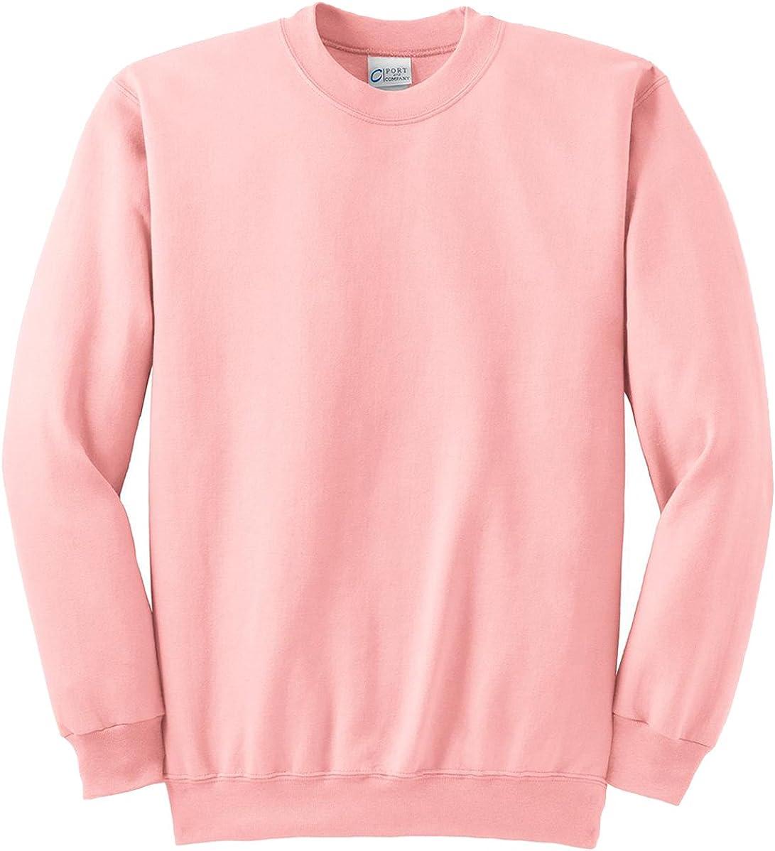 Port & Company Tall Ultimate Crewneck Sweatshirt. PC90T XX-Large Tall Pale Pink