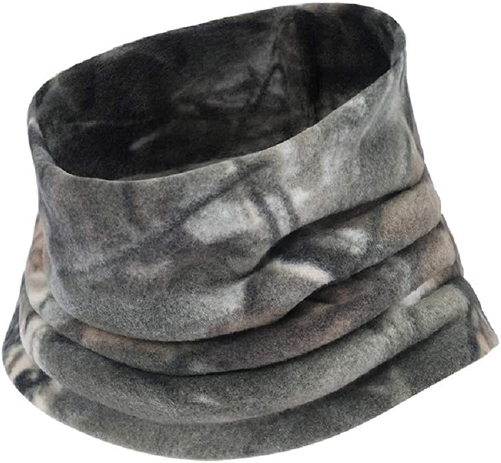 Cold Weather Fleece Neck Gaiter Camo Windproof Face Mask Winter Neck Warmer - RC11