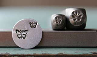 2 Stamp (5mm and 3mm) Butterfly Metal Punch Design Jewelry Stamp Set