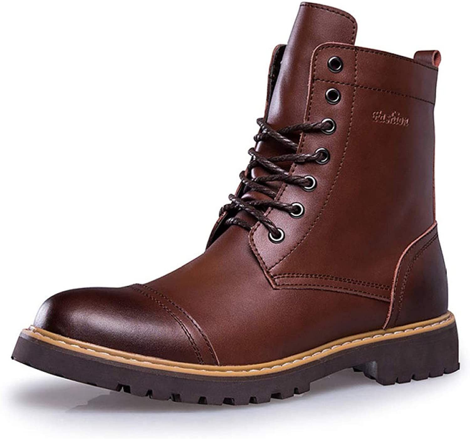 Retro Men's High-top Brogue shoes Ankle Boots Martin Boots Outdoor Trekking Hiking Boots Work Security Desesrt shoes Boots