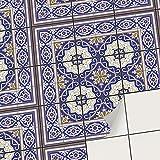 creatisto Vinyle adhésif Autocollant I PVC Sticker - Embellissez Carreaux muraux de Cuisine et Salle de Bain I Repositionable et Facile à appliquer (15x15 cm I 27 - Pièces)