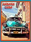 A SLICE IN TIME Cuba Cuban Havana Island Habana Caribbean Taxi Classic Old Car Cars Travel Advertisement Art Collectible Wall Decor Poster Print. Measures 10 x 13.5 inches