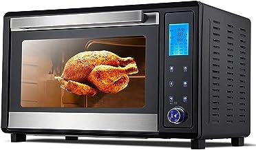 ZJDM 65L Noir Mini Four 2200W Température Réglable 40-250 ℃ et 120 Minutes Minuterie Ménage Multifonction Électronique Tac...