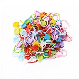 DROHOO Crochet à Tricoter, 100 pièces Point de Tricot coloré marqueurs de Crochet à Tricoter verrouillant des épingles de ...