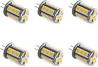 Makergroup T3 G4 Bi-pin LED Light Bulb 12VAC/DC Low Voltage 3Watt Warm White 2700K-3000K for Outdoor Landscape Lighting Path Lights, Deck Lights, Step Lights,Paver Lights 6-Pack