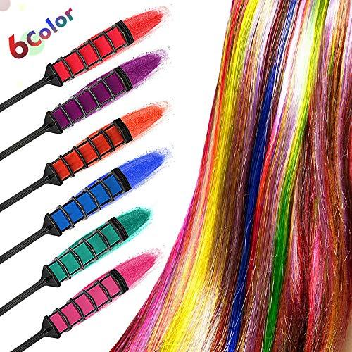 Wenhu 6 pièces Salon de Produits de beauté de Couleur Craie temporaire Peigne Kits Dye Disposable Party Hairs Peigne Dyeing