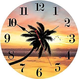 VIKMARI Kitchen Wall Clock - Home Decorative Wall Clock,8/14 Inch Silent Non-Ticking Quartz Battery Operated Clock, Easy t...