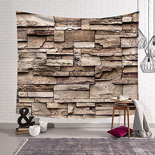 SHULI Verdikte Tapestrys muur opknoping imitatie baksteen patroon Tapestry voor slaapkamer woonkamer Dorm Home decor,A,150 X 200CM