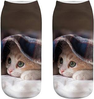 Unisexo Calcetines 3D de gato calcetines de animal para mujer hombre