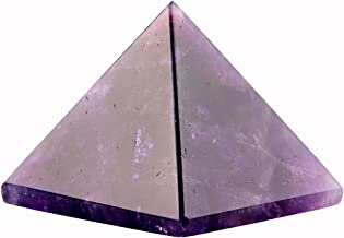 Amethyst 1.5inch Natural Pyramid Carved Chakra Healing Crystal Reiki Stone Gemstone Radiation Deflection Home Decor Gift Decoration Crafts (Amethyst)