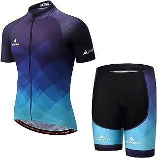 MILOTO Men's Cycling Jersey Set Reflective Short Sleeve Breathable