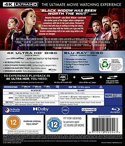 Marvel Studios Black Widow UHD [Blu-ray] [2021] [Region Free]