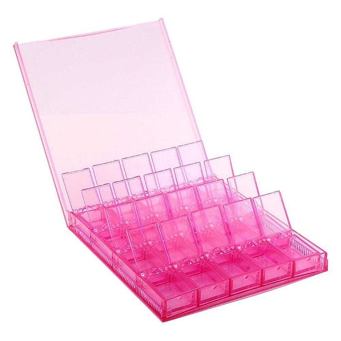寝てるバラ色容器Cikuso 収納ボックス 5D ダイヤモンド ペイント DIY取り外し可能なクリアツール オーガナイザー ネイルアート ラインストーン 20グリッドジュエリー/ダイヤモンド/イヤリング/ビーズ/ネックレス ボックス