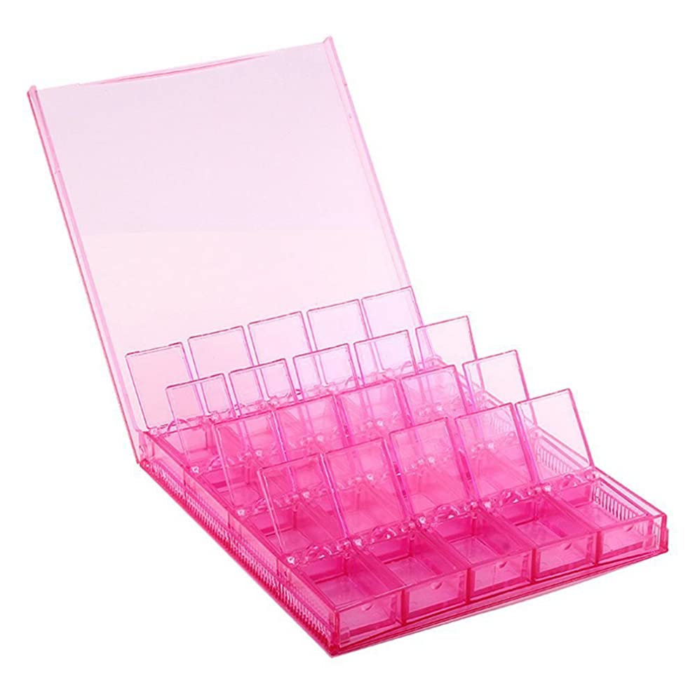 計画リテラシー平均Cikuso 収納ボックス 5D ダイヤモンド ペイント DIY取り外し可能なクリアツール オーガナイザー ネイルアート ラインストーン 20グリッドジュエリー/ダイヤモンド/イヤリング/ビーズ/ネックレス ボックス