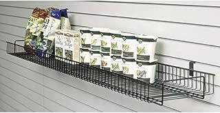 Slatwall Shelf with Lip Black Wire - 60