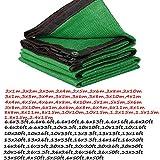 YYQ Malla Sombreo Bloqueador Solar Malla ocultación Verde 2x4m 3x5m,Selladas Borde,Red para Estanque Plant