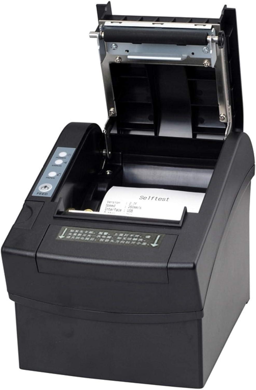 LUOKANGFAN LLKKFF Office Electronics Receipt Printers 80mm Parallel/Serial Port + USB or Ethernet Port Thermal Receipt Printer (XPC2008)(Black) Printer Accessory