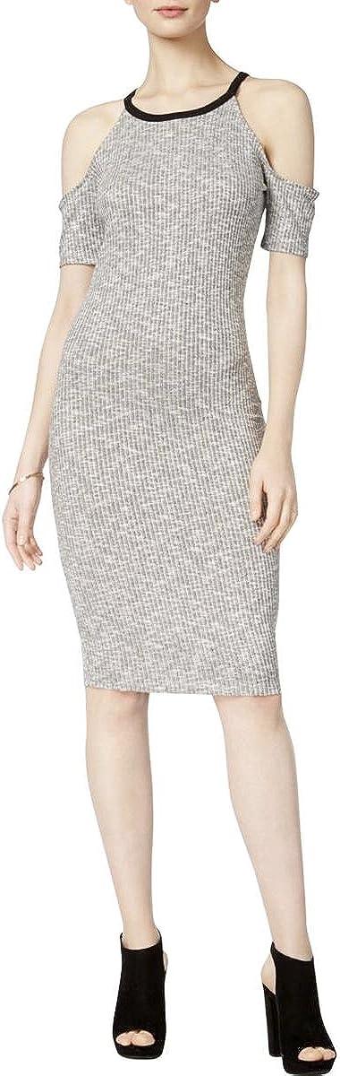 bar III Womens Cold Shoulder Bodycon Dress