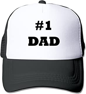 WZN Number 1 Dad #1 Dad Hats With Red