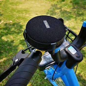 XIEJ Altavoz Bluetooth portátil para Bicicleta con Ventosa, Soporte de fijación de Bicicleta, Bluetooth 5.0 y 10 h de Tiempo de reproducción, IPX7 a Prueba de Agua, para Montar, Caminar y Acampar